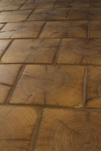 702 hand cut timber tile floor