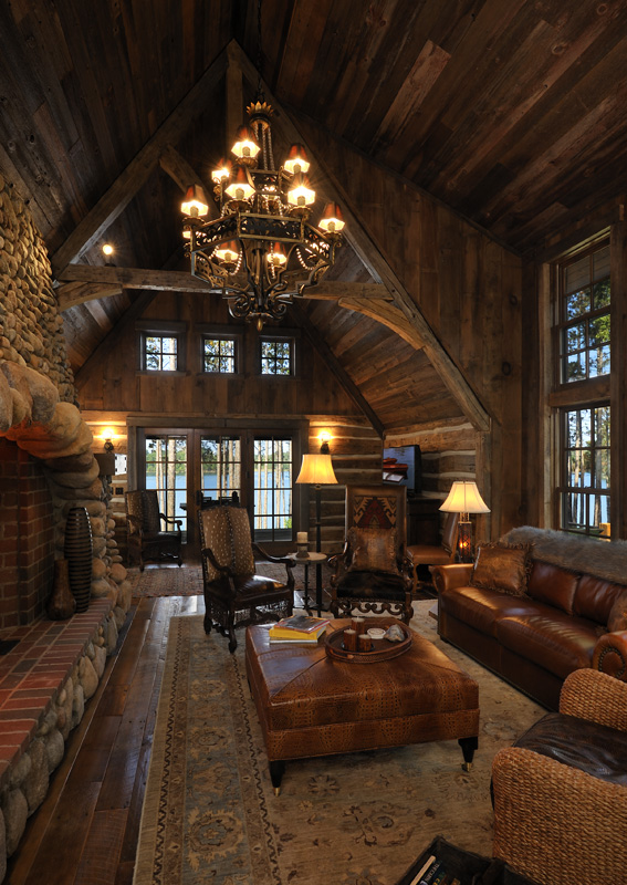 Big wood timber frames rustic lake lodge for Rustic timber homes