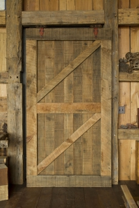 736. original surface pine sliding door