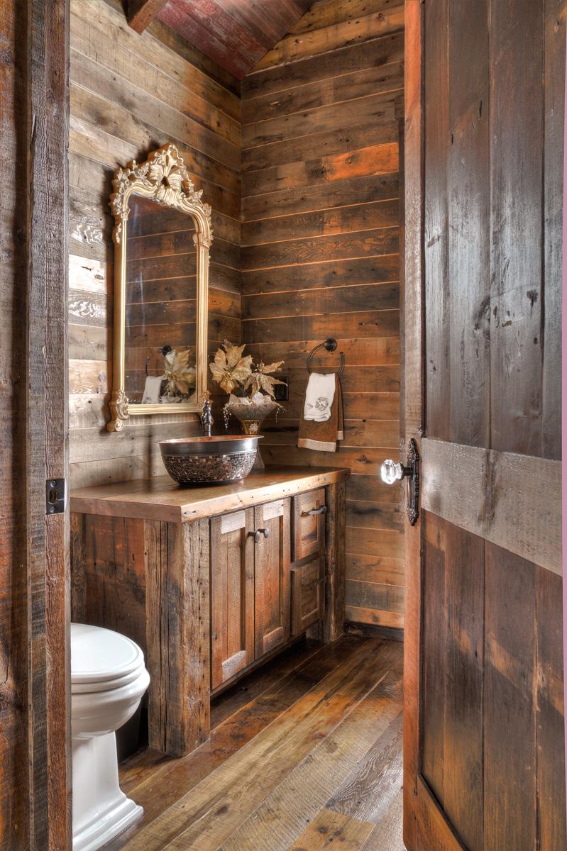 Big wood timber frames st boni ranch for Bath cabin